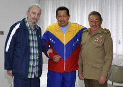 Los hermanos Castro y Chávez