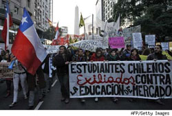 Protesta estudiantil Chile