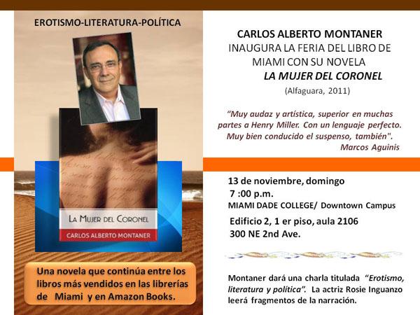 La mujer del Coronel inaugura Ferial del Libro de Miami