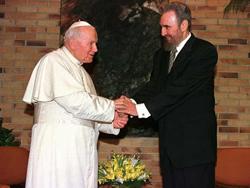 Castro y Juan Pablo II