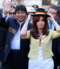 Evo Morales Cristina