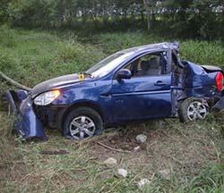 Carro donde iba Oswaldo Payá