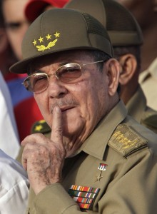 Cuba's President Raul Castro attends an event marking the 1953 assault on the Moncada military barracks in Holguin, Cuba