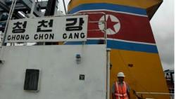 Barco coreano con armas cubanas