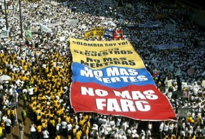 """No more FARC"": Colombian protesters fill the streets of Cali."