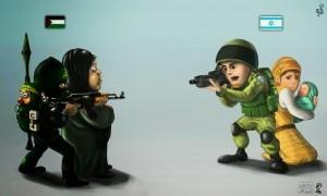 escudos humanos en gaza